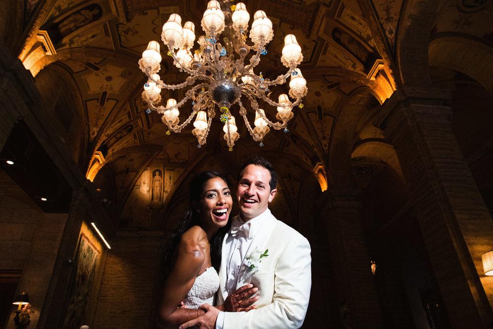 Breakers Palm Beach Wedding Wedding Photo under chandelier