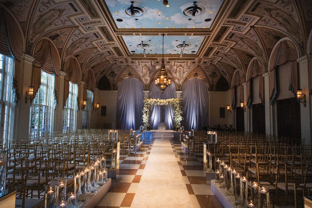 Breakers Palm Beach Wedding Jewish Wedding Ceremony with chppah