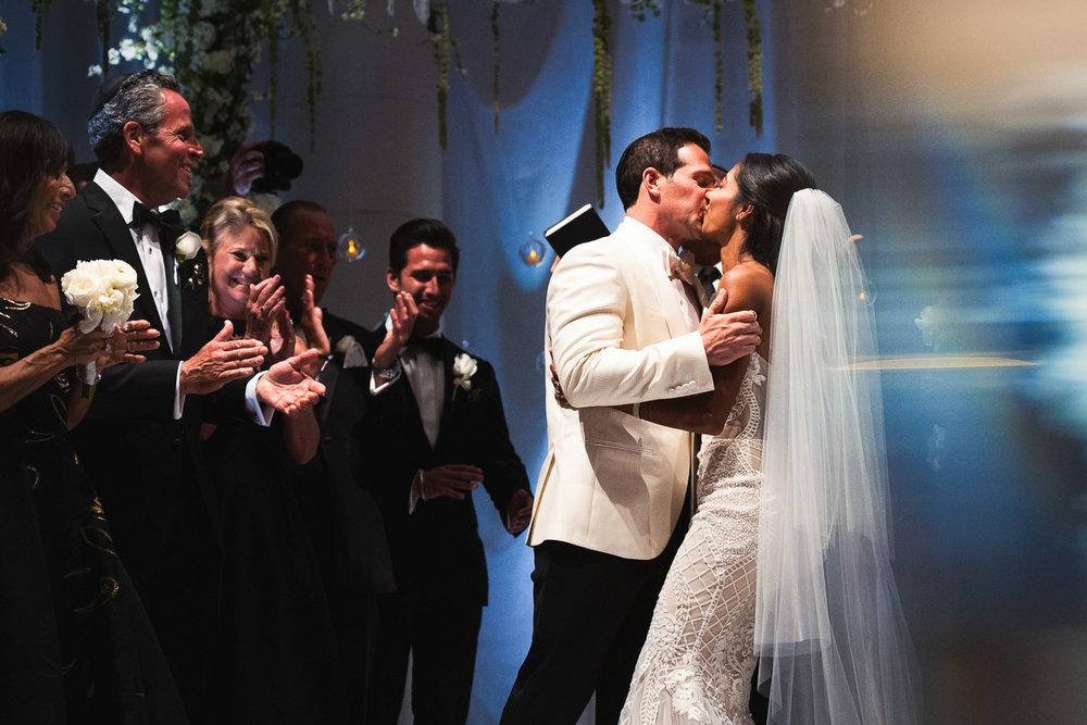 Breakers Palm Beach Wedding First Kiss