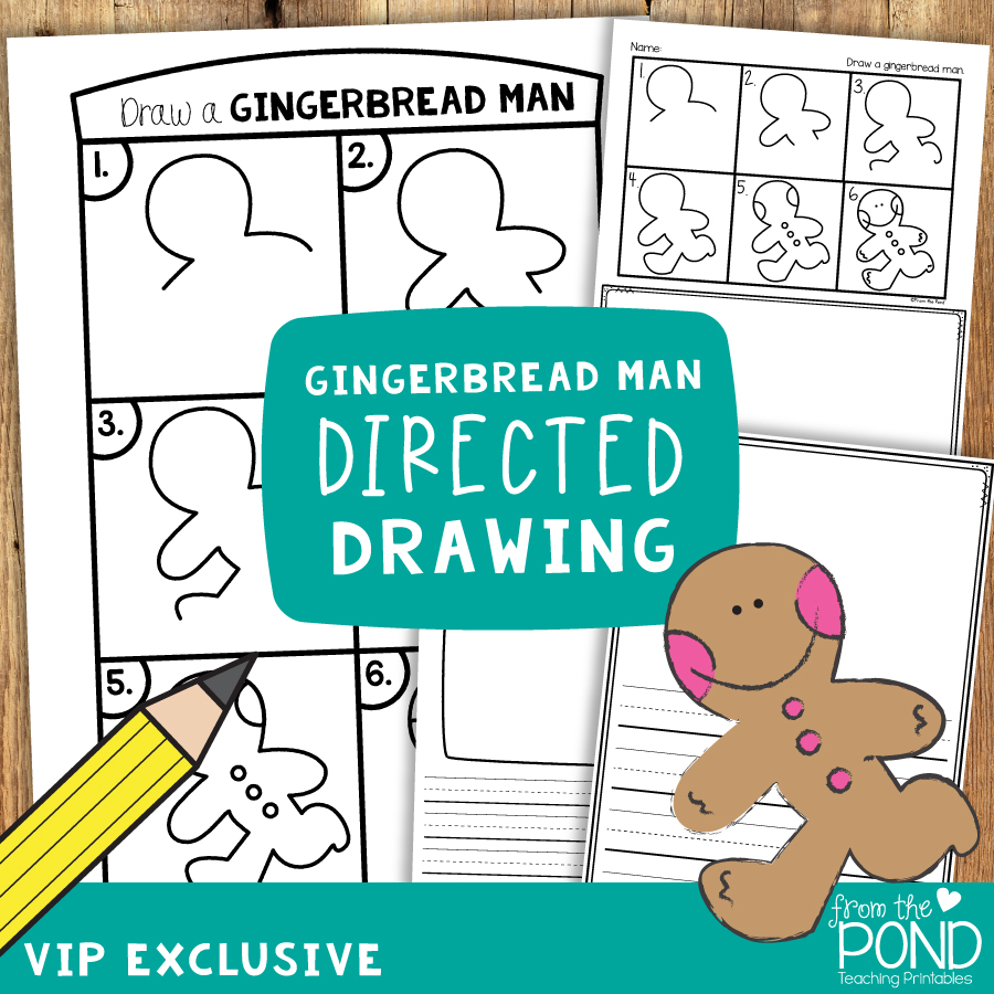 Gingerbread Man Directed Drawing