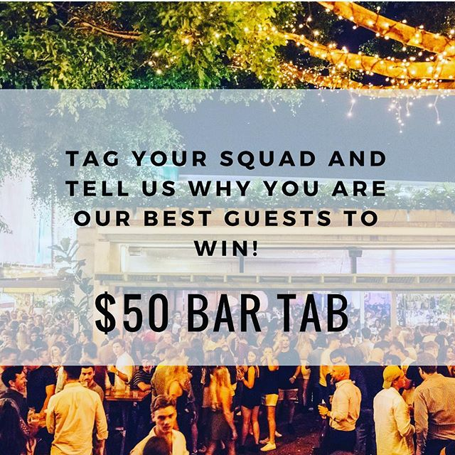 GIVEAWAY TIME!! We're giving away a $50 bar tab for our O-Week College Party Ft. @odd_mob Tag your mates in the comments below and tell us why you are our best guests!