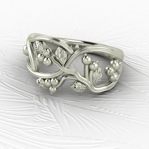 14k White Gold Snowberry Ring House Of Frost Jewellery Birthday Gift For Her