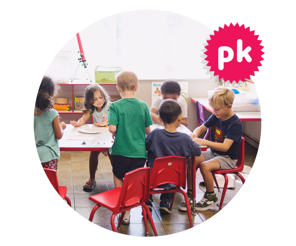 Pre-Kindergarten - Our Pre-K program is designed for children who will be attending kindergarten the following fall. Our Pre-K teachers are professional educators that help your child become kindergarten-ready — emotionally, socially and academically. Our Pre-K curriculum is child-centered, and teachers design lesson plans based on the actual interests of the children. Each day your preschooler will spend time in large group interactions, small group interactions, and individual child choice time. The classroom environment is set up in learning centers like building, dramatic play, art, library, discovery, sand and water, music and movement. Pre-kindergarteners at Hamilton Heights play and explore outdoors everyday on our playgrounds and in our 'natural classrooms.'