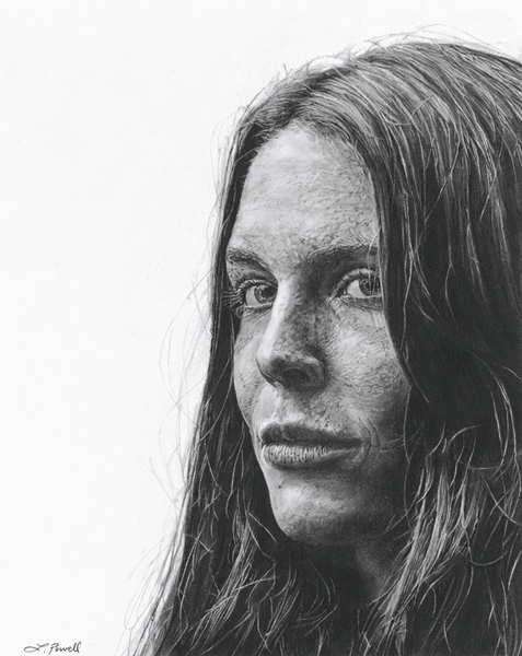 "Maggie Rogers    Charcoal on archival paper  8""x10"""