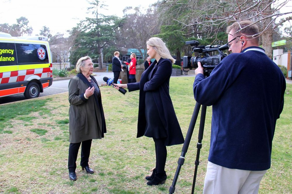 The launch of the spring thunderstorm campaign was held earlier today at Wagga Wagga's Botanic Gardens. Our local media were out in force, braving the cold and wet, to promote the launch.