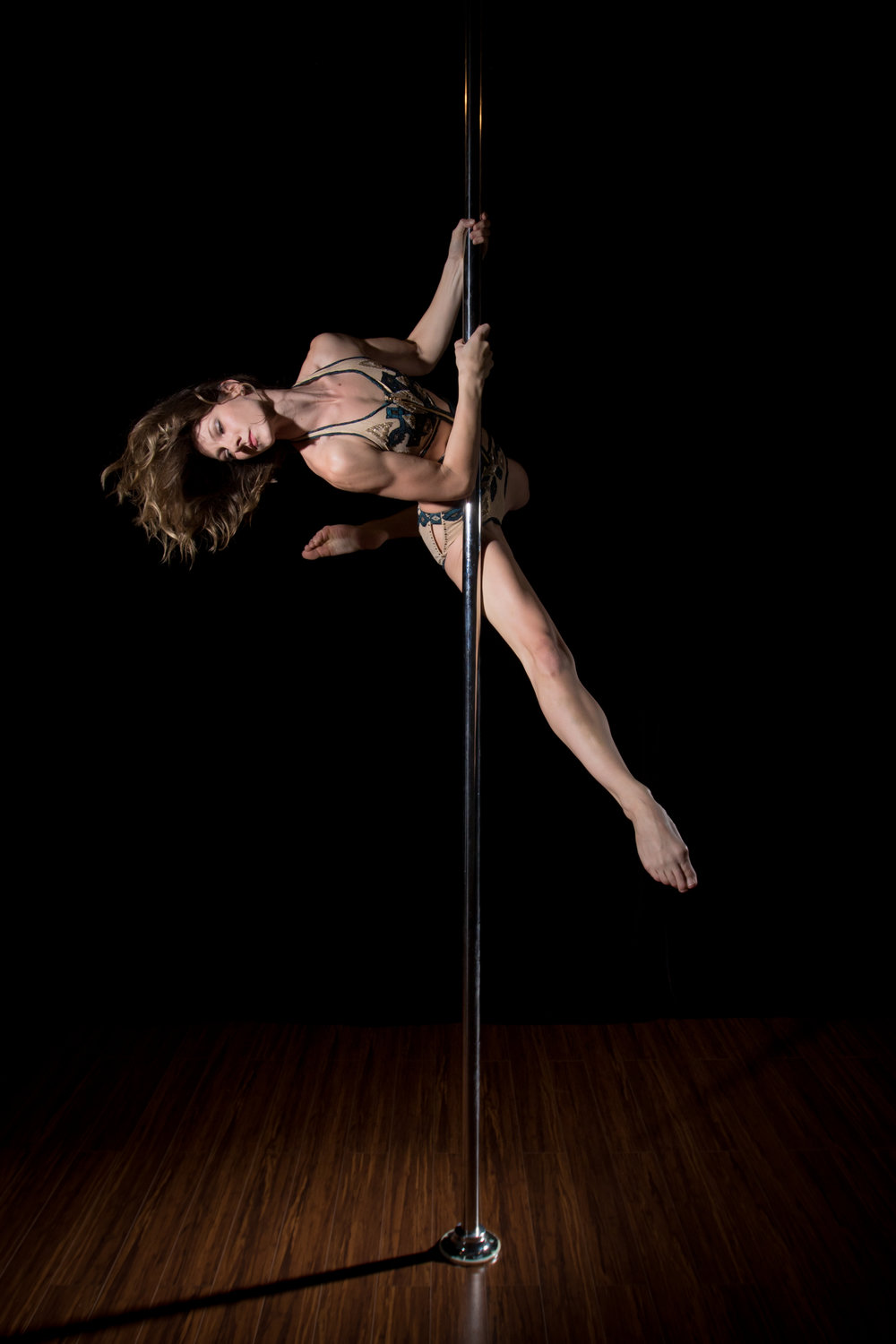 Tara Steed  IG:  @tututara   Tara is a former ballet dancer with over 2 decades of dancing and teaching experience. She discovered Pole in 2011 while looking for a new dance activity and has never looked back. She has competed and placed in several national competitions. Her style is graceful and dancey and she has a passion for clean, pretty lines. Tara loves teaching and thrives on coaching her students, and loves watching them meet and surpass their goals. Tara is a new mom to her baby boy Felix, and enjoys spending her free time with her husband and corgi puppy watching bad movies and eating good food.