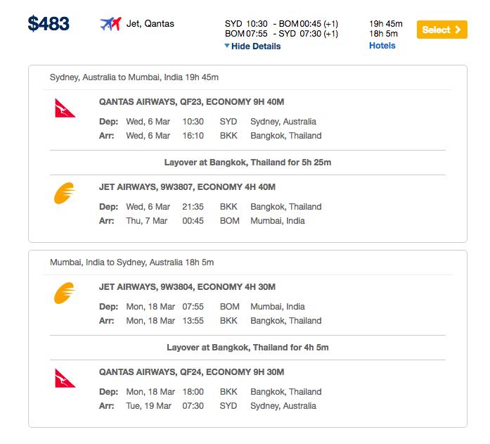 Hurry 480 Qantas Return Flights To India Point Me Right