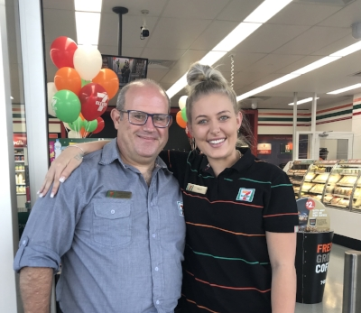 Store Manager Craig Osbourne and team member Holly Henderson
