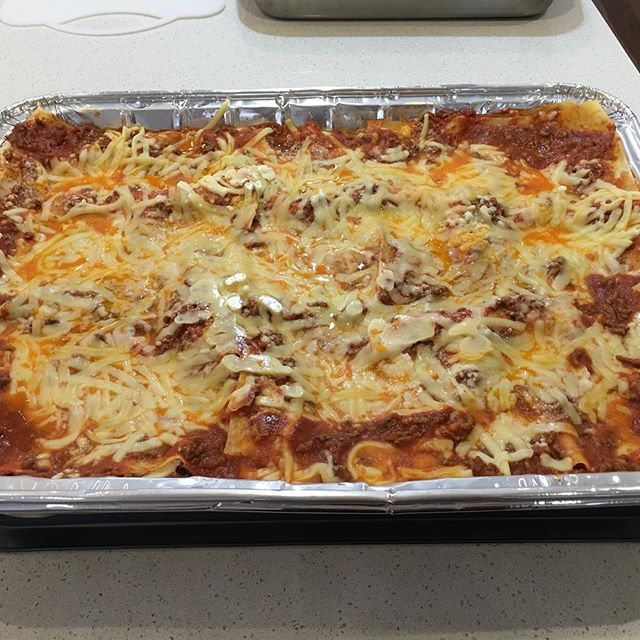 Our party size lasagne perfect for your next function #entertaining #lasagne #easyfoods #dinnerparty #dinnerpartyideas