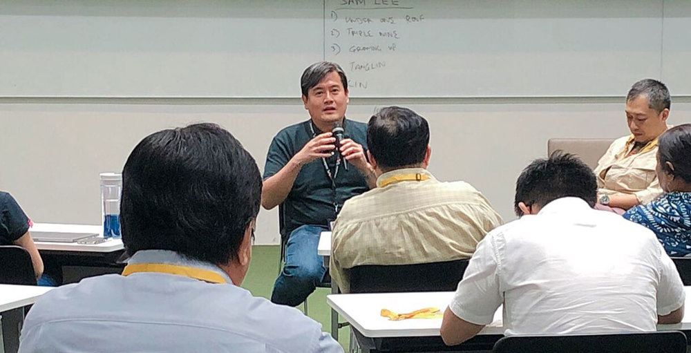 Guest Sharing Session by Sam Lee (Mediacorp's Senior Supervising Scriptwriter) for Scriptwriting Diploma students