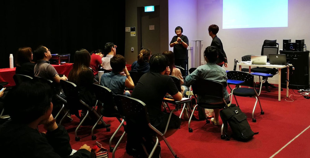 Guest Sharing Session by Lye Lin (Mediacorp's Senior Executive Producer) for Production Diploma student