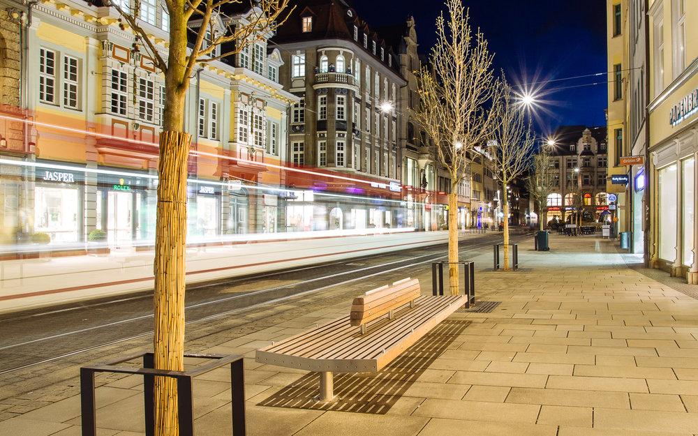 Fußgängerzone Anger in Erfurt (Thüringen), Projektdokumentation für Gnüchtel Triebswetter Landschaftsarchitekten, März 2014