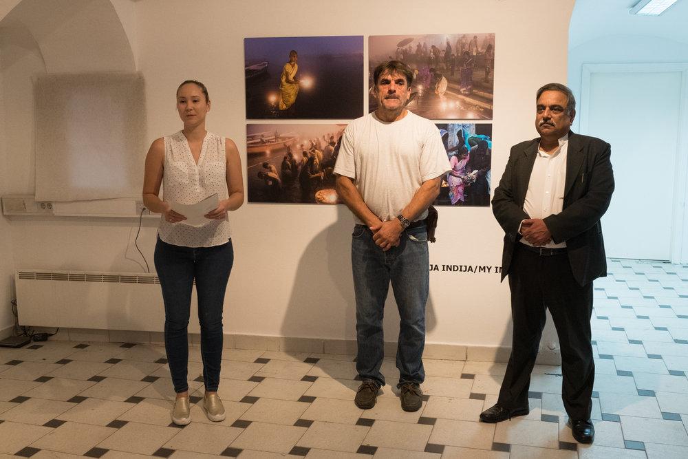 Arne Hodalič, otvoritev razstave Moja Indija v K18