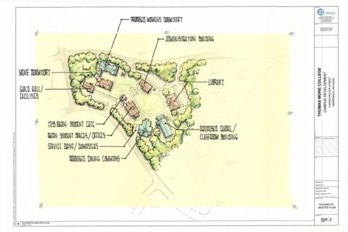 Thomas More College Campus Map.Thomas More College Of Liberal Arts Campus Masterplan Phase Zero