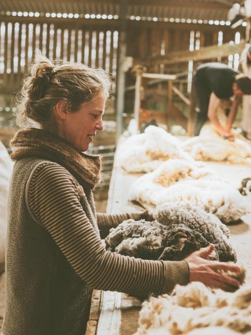Wool grading with Jen Hunter.jpg