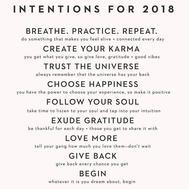 A little intention inspo from @spiritualgangster. What does your 2018 have in store?