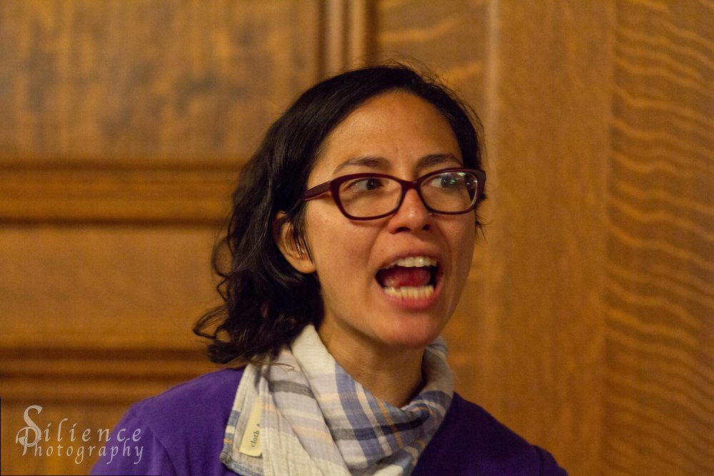 Xelba Gutierrez, a MarchOnHarrisburg organizer. Photo Credit: Michael Hodgson