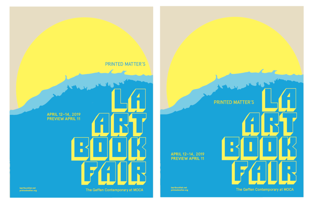 Printed Matter's  2019  LA Art Book Fair  (LAABF), takes place on  April 12–April 14, 2019  (Opening Night April 11), at   The Geffen Contemporary at MOCA   in Los Angeles, California.  Printed Matter's LA Art Book Fair (LAABF), initiated in 2013, is the companion fair to the NY Art Book Fair. The two fairs are the leading international gatherings for the distribution of artists' books, celebrating the full breadth of the art publishing community.  Held at The Geffen Contemporary at MOCA in downtown Los Angeles over three days (plus Opening Night), LAABF 2019 will welcome hundreds of exhibitors from around the world, including a broad range of artists and collectives, small presses, institutions, galleries, antiquarian booksellers, and distributors. With a commitment to diversity and representation, the event will serve as a meeting place for an extended community of publishers and book enthusiasts, as well as a site for dialog and exchange around all facets of arts publishing.