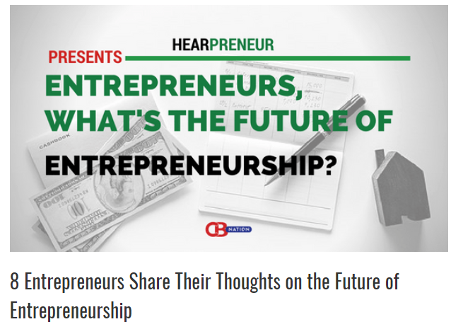 My thoughts on the future of entrepreneurship.
