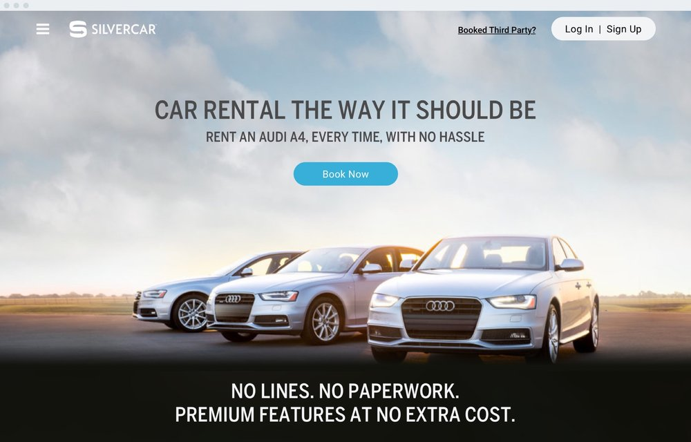 Silvercar - This year's coolest car rental company, Silvercar wanted a visually rich, yet easily navigable site to cull through the many growing locations and discount offers continually being launched.silvercar.com
