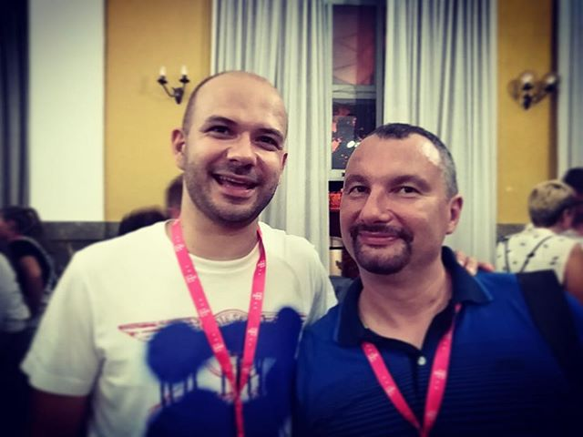 #bobanjevtic of #serbianfilmcentre #filmskicentarsrbije with #jurepavlovic at @matchmakingforum_by_avvantura during @pulafilmfest with @avvanturamatchmaking #matchmakingbyavvantura #avvantura2018 #avvanturafilmfestival #avvantura9 #pula #istria