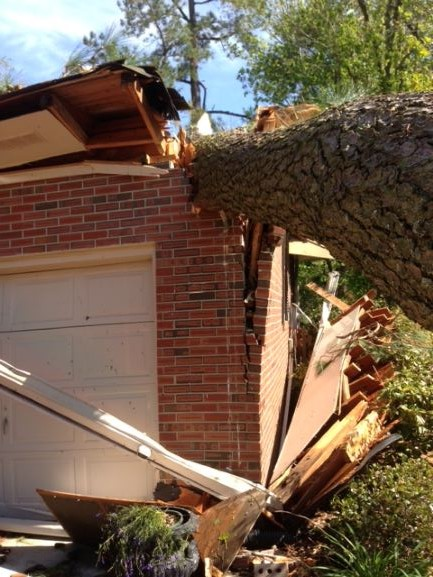 This damage was done by a Tornado here in Elizabeth City.