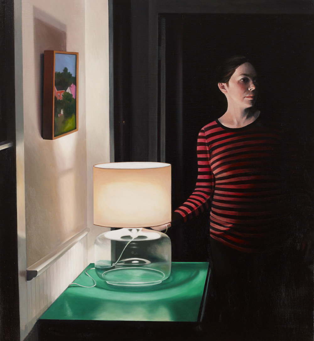 "Waiting      22""x24""     2013     oil on linen"