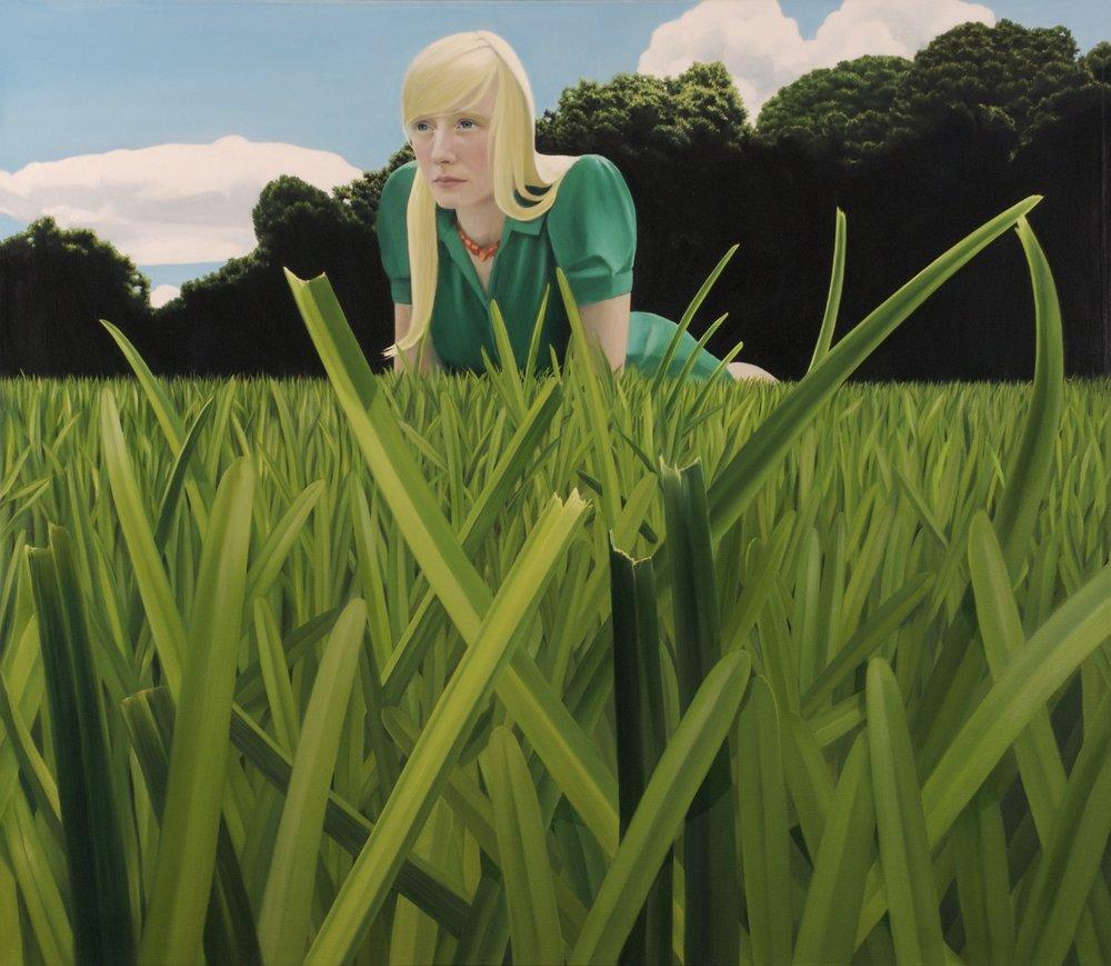"Alice      36""x41""     2008     oil on canvas"