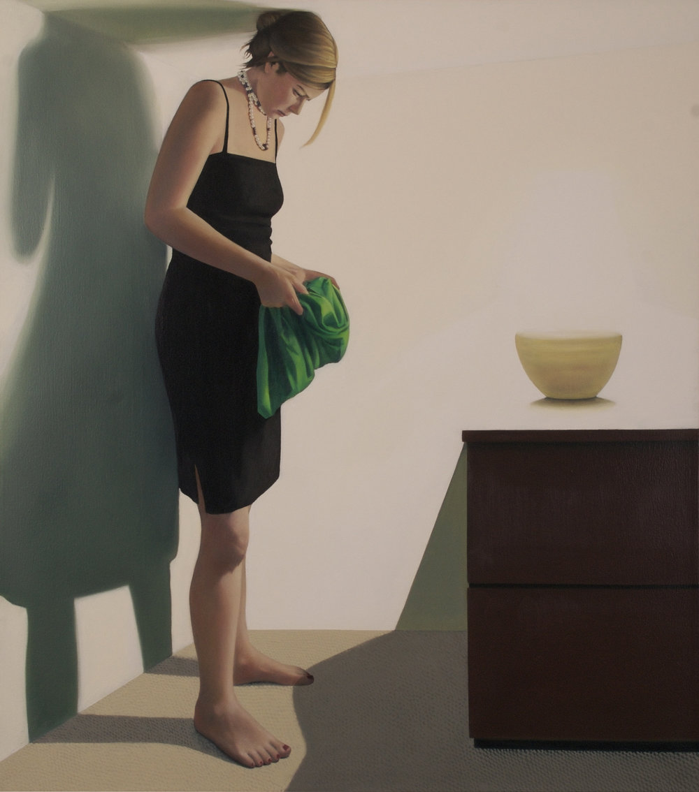 "Apartment 4A      41""x36""     2008     oil on canvas"