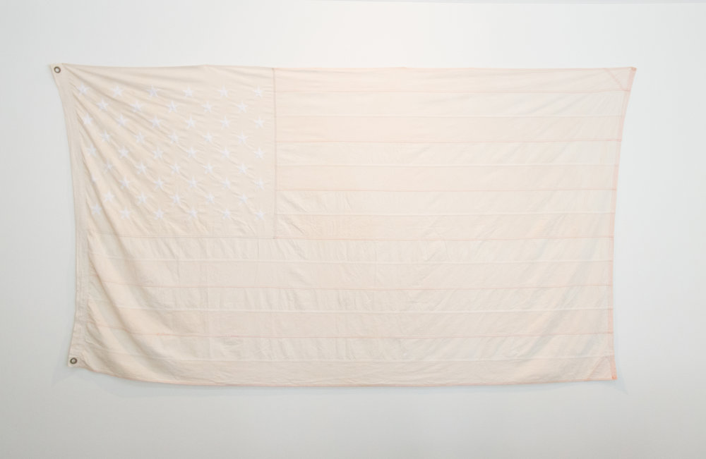 """#16 (Whitewashed)  60""""x114"""" United States burial flag 2017  Photo Courtesy: Anna C. Robertson"""