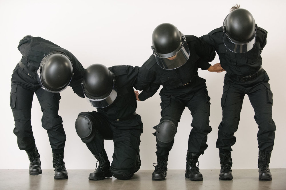 Rehearsal of the Futures: Police Training Exercises  (2018 ) , video still, courtesy of the artist