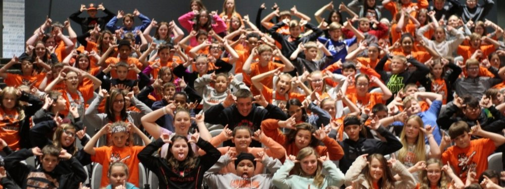 Central Elementary (IN) Students attending Danny Dollar Day at NKU