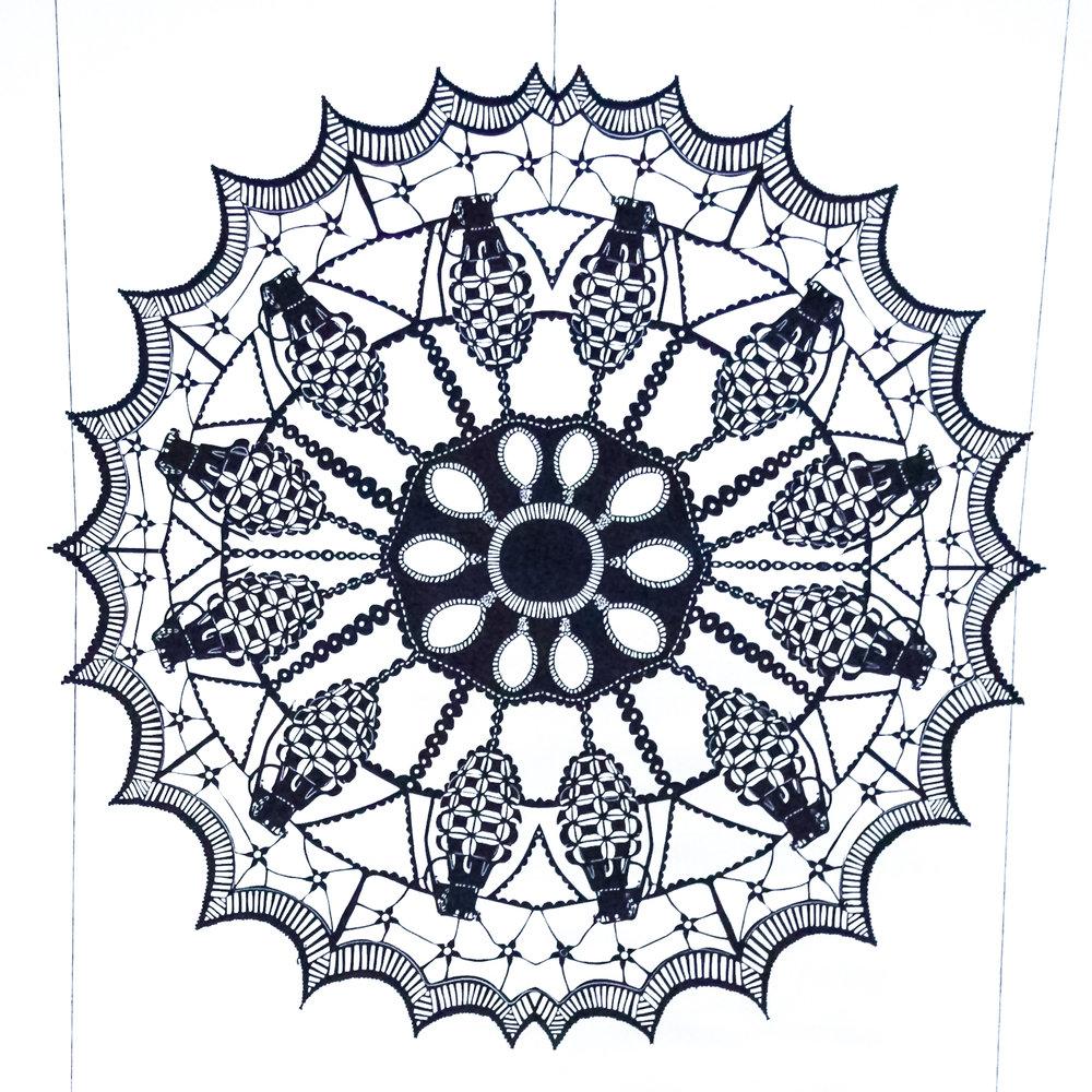 Snowflake - Cut Paper, Thread
