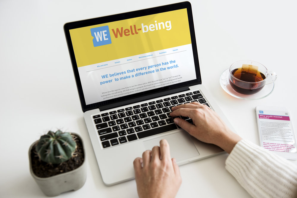 Micro-Site - Working with our executives, creative team and front-end web development team, I lead the creation of the WE | Well-being Web Hub. This is currently a Phase 1 sub-section on the main WE.org website that houses all of our current resources.