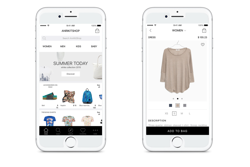 E-commerce app - Boost your sales on mobile with only a fraction of mobile app development and maintenance costs