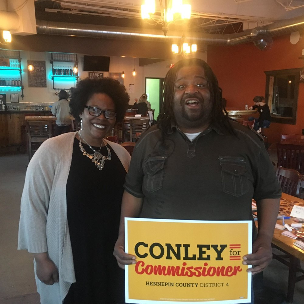 """Londel French   Minneapolis Park Board Commissioner At-Large    """"Angela Conley is a leader with the experience and perspectives needed to truly affect change in our communities. I trust Angela to fight for access and inclusion while working hard to eliminate racial and economic gaps. We need someone on the county board who will fight hard for us; I trust Angela to do that."""""""