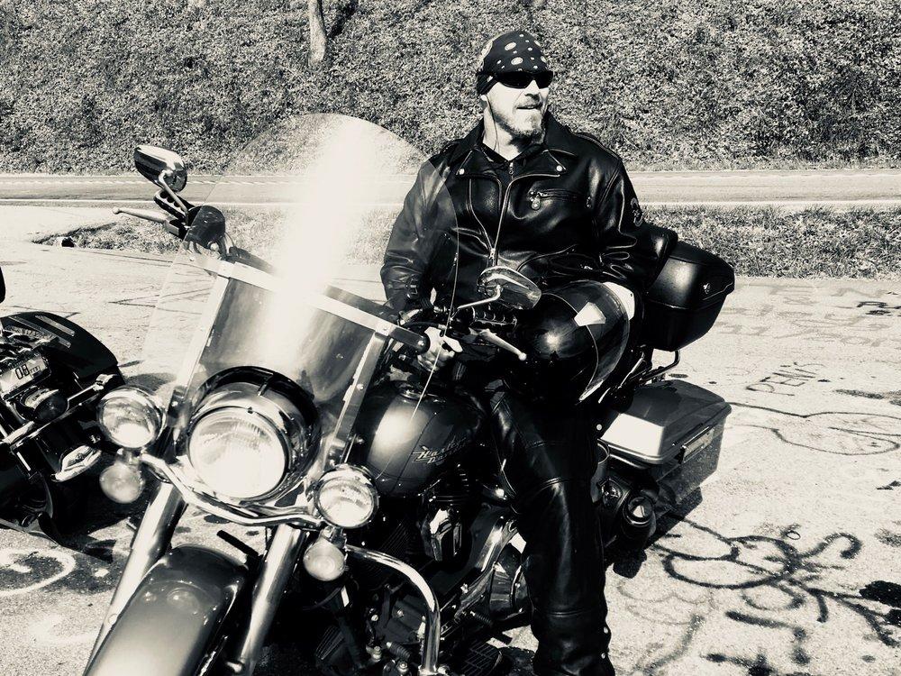 Ryan Blake and his Harley Davidson