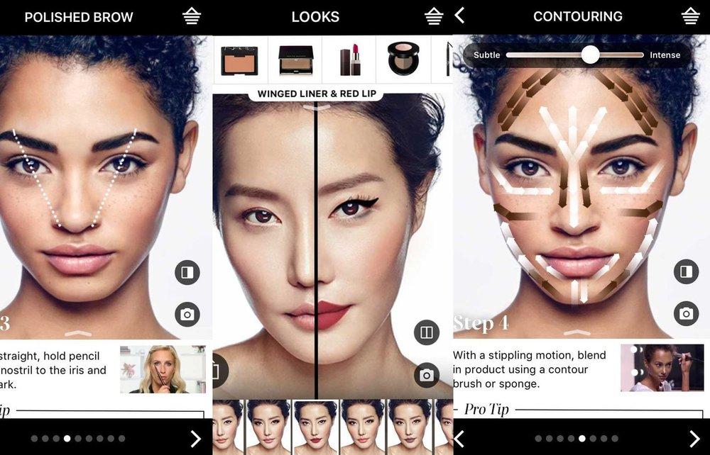 Sephora's virtual try-on tutorials