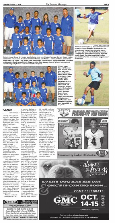 The Eatonton Messenger | Putnam Impact Soccer Club