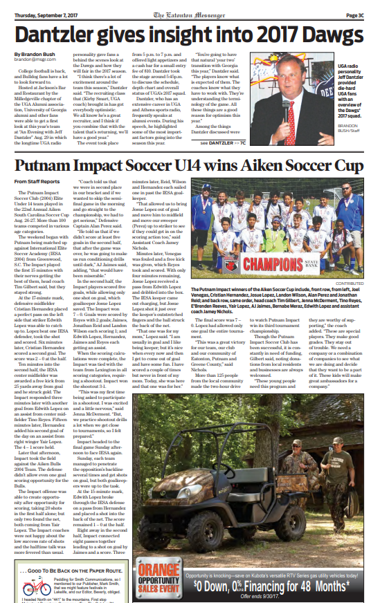 The Eatonton Messenger | Putnam Impact Soccer Club