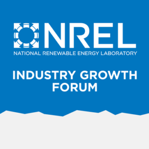 2018 May 3,4  NREL (National Renewable Energy Lab) Industry Growth Forum