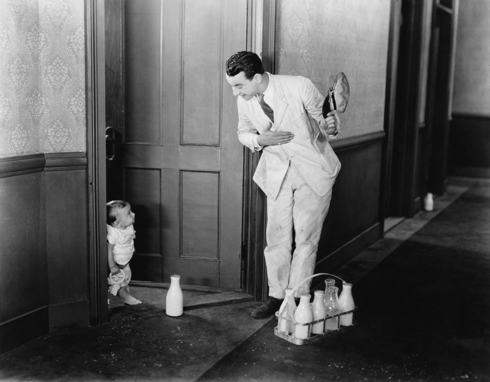 milkman and child