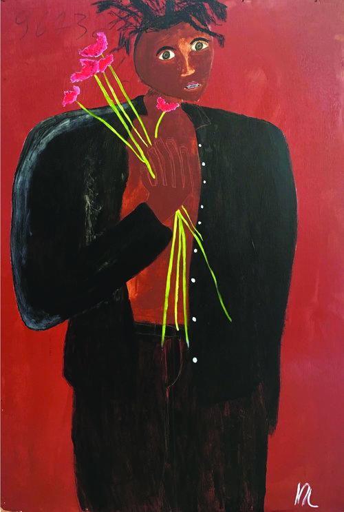 Marcus Leslie Singleton, DEATH HOLDING FLOWERS