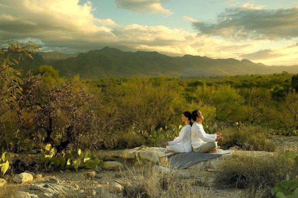Relaxing in the desert