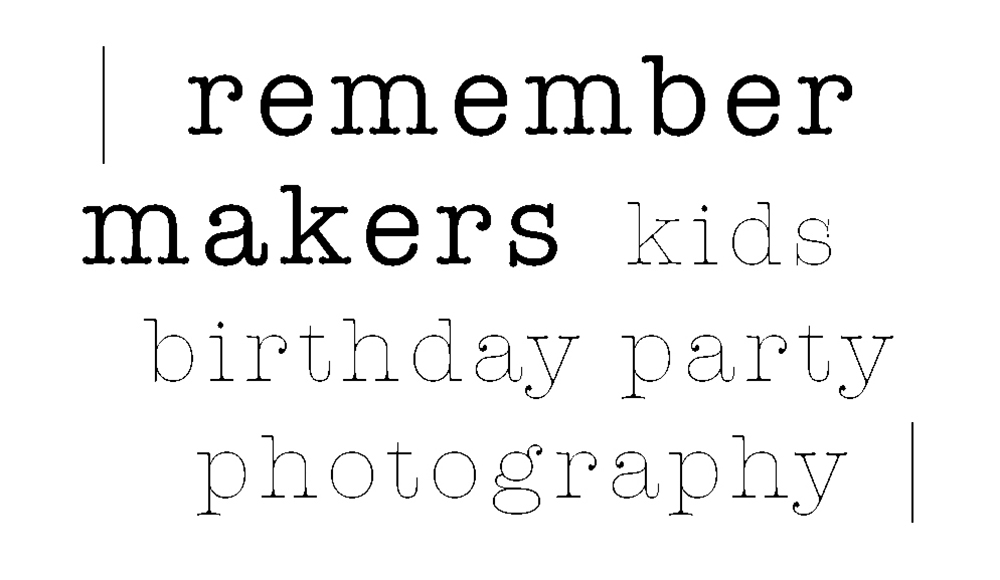 Remember Makers | Kids Birthday Party Photography LA