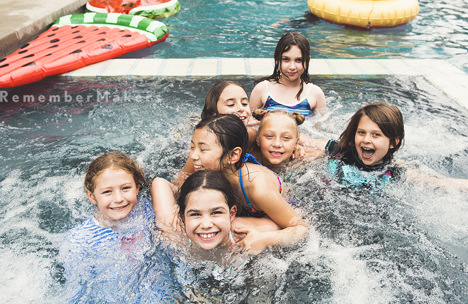 pool party los angeles kids birthday party photography santa monica