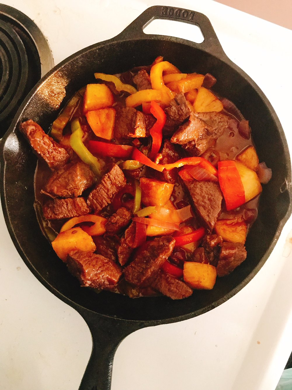 Elk Steak and peppers.JPG
