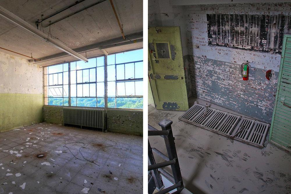Radiators in the dormant Sears building