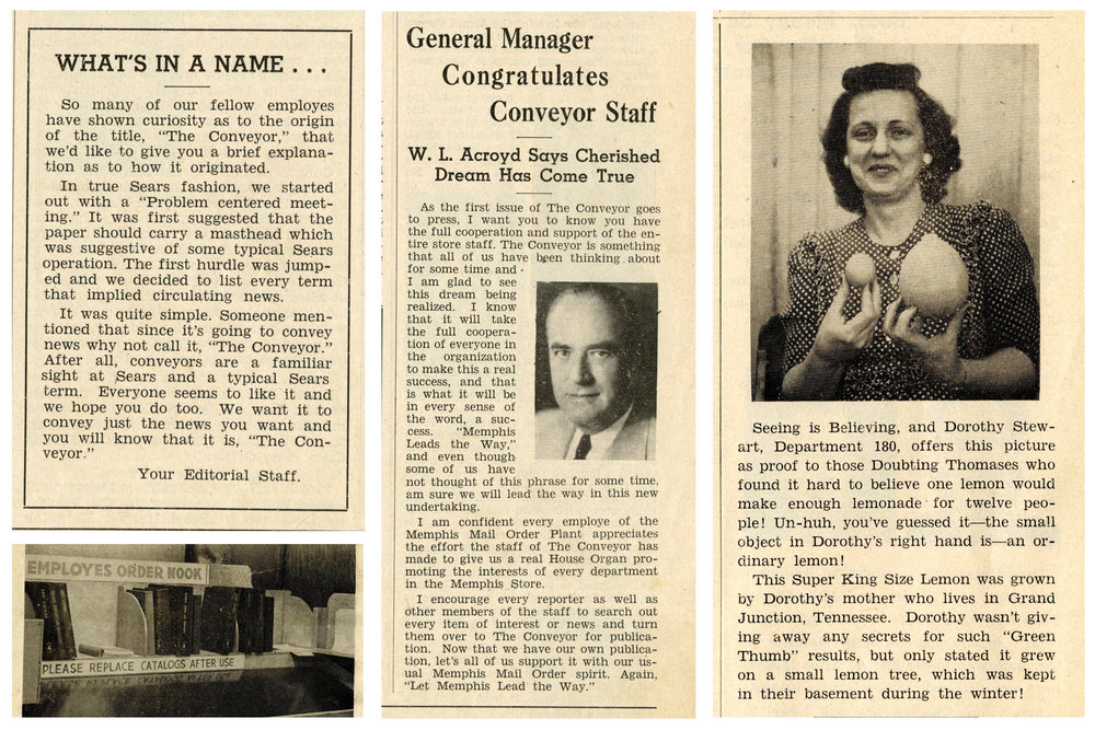 Clippings from the First Issue of  The Conveyor , June 19th, 1945