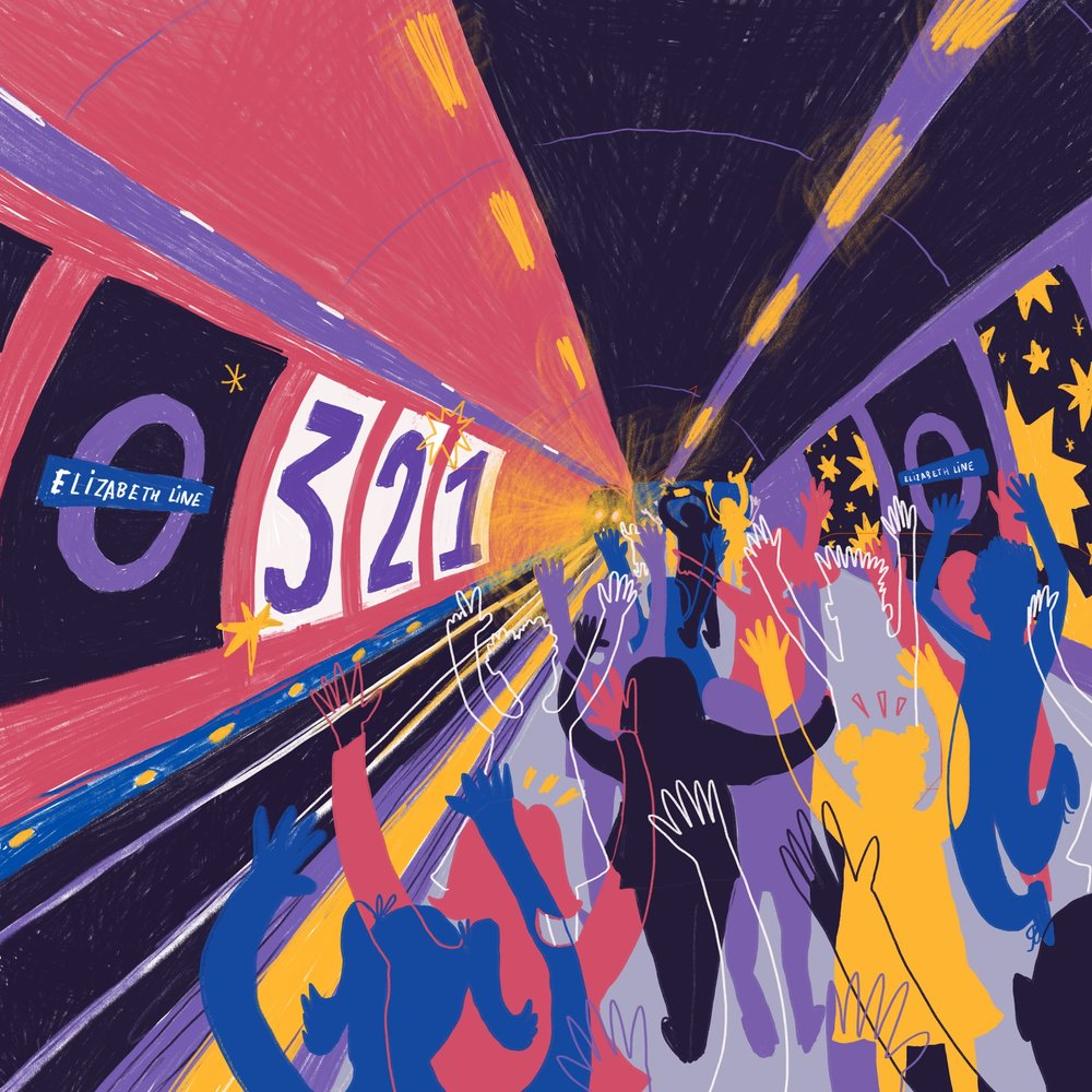 winning competition entry to generate excitement for the launch of the elizabeth line